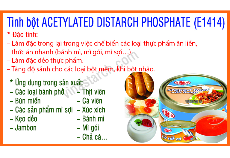 Tinh bột ACETYLATED DISTARCH PHOSPHATE (E1414)