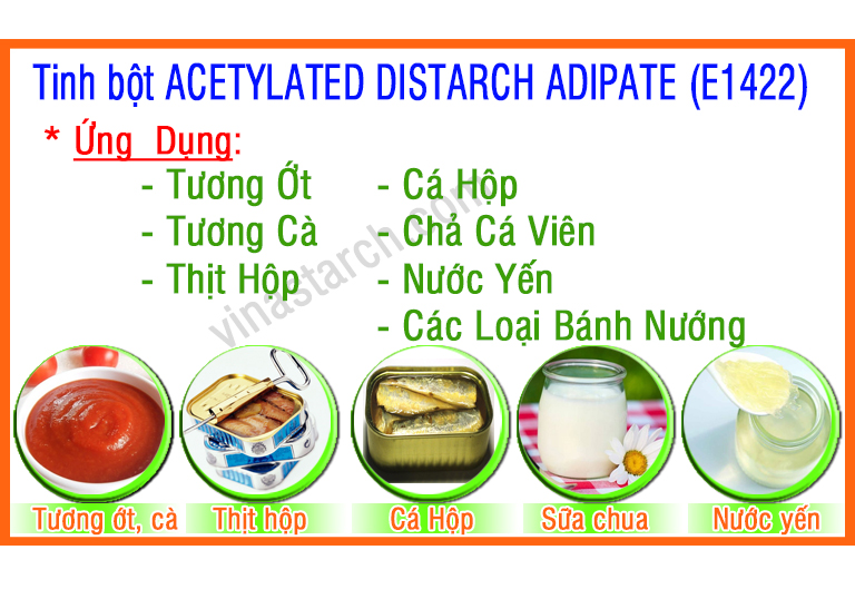 Tinh bột ACETYLATED DISTARCH ADIPATE (E1422)