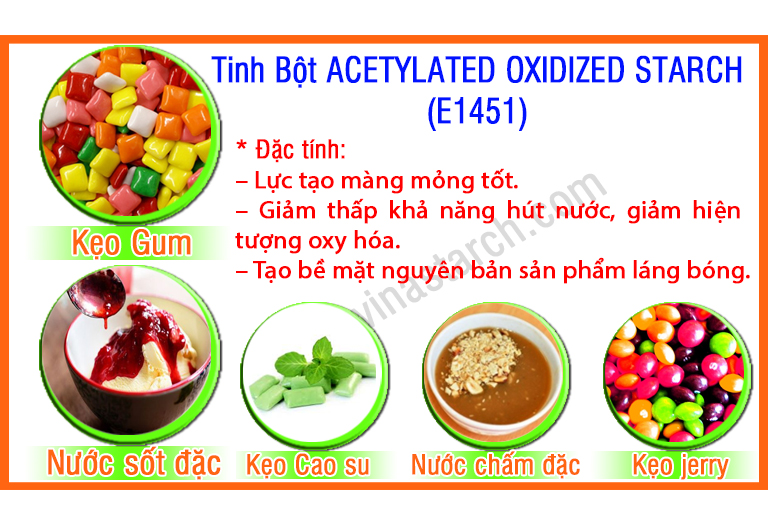Tinh Bột ACETYLATED OXIDIZED STARCH (E1451)
